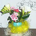 petit centre de table florale pour paques