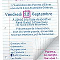 BLOG DE L'ASSOCIATION DES PARENTS D'ELEVES COURCOURY LES GONDS