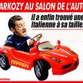 Sarkozy trouve son bonheur au salon de l'automobile