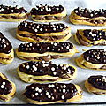 Eclairs au chocolat <b>croustillant</b> praliné