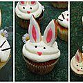 Cupcakes lapins citron vert et chocolat blanc