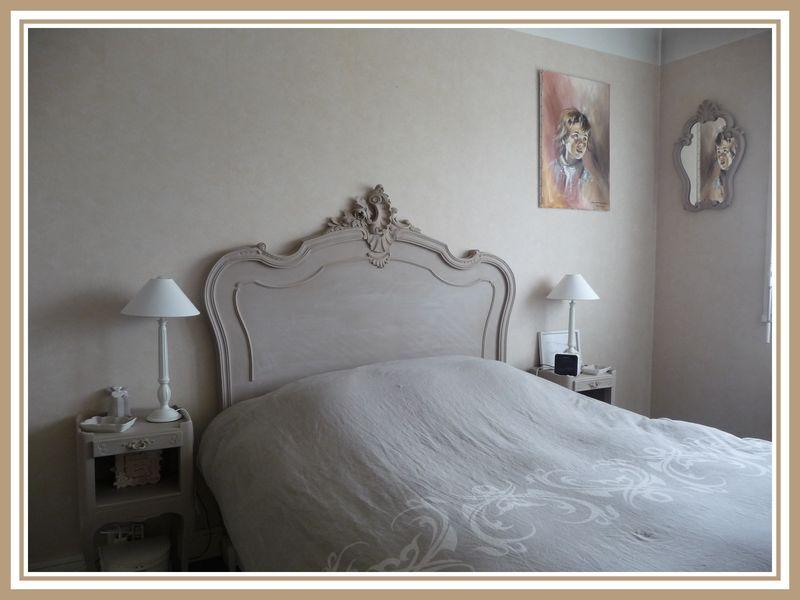 Tête de lit Patine Taupe Rosé et Blanc Colombe