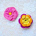 Diy ~ broches fleur