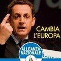 Campagne d'affichage de l'extrême droite italienne pour saluer la victoire de sarkozy