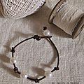 Bracelet perles cuir