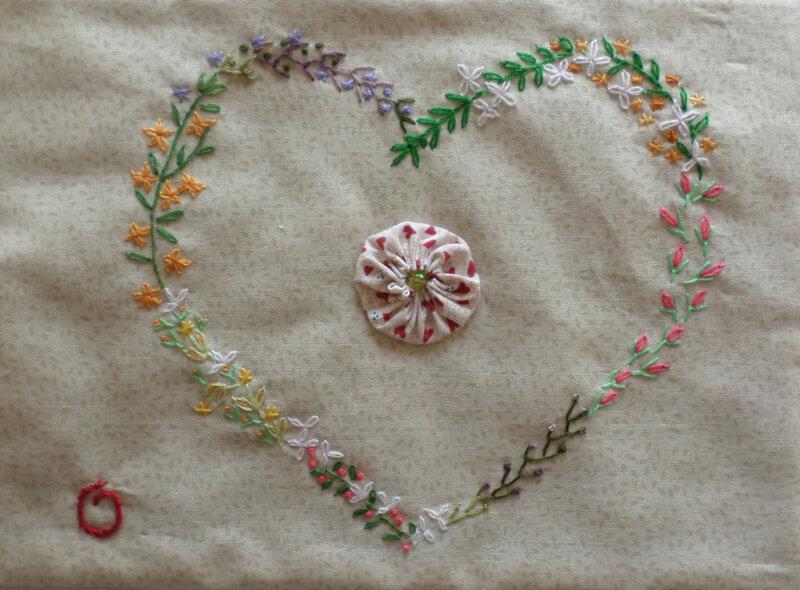 Coeur fleuri d'Odile