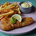 Fish and chips et sa mayonnaise ail et persil