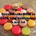 Blog anniversaire et bonne année