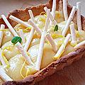 Tarte citron et ses bâtonnets de meringue