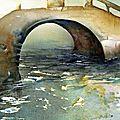 ITALIE / ITALY, Venezia - Giardini Biennale, Sestiere Castello, bridge.