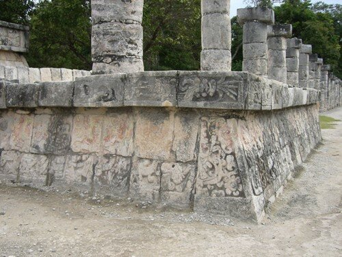 Chichen Itza - Group of Thousand of Columns (South from Temple of Warriors)