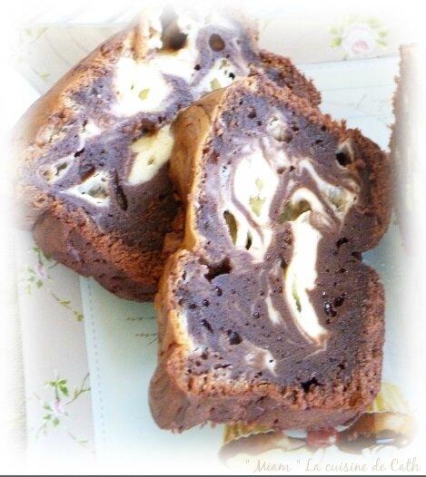 """ღ """" Miam """" Brownie marbré façon CheeseCake ( au mascarpone )"""