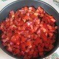 Clafoutis salé de tomates.