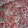 996 - Incroyable <b>tissu</b> <b>ancien</b> 19e ... imitation drapé velours 215 x 77 de large