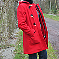 Duffle <b>coat</b> rouge