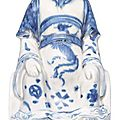 A figurine '<b>Zhenwu</b>'. China, Wanli-period (1573-1619)
