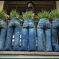 Balcon rock - jardinières jeans !