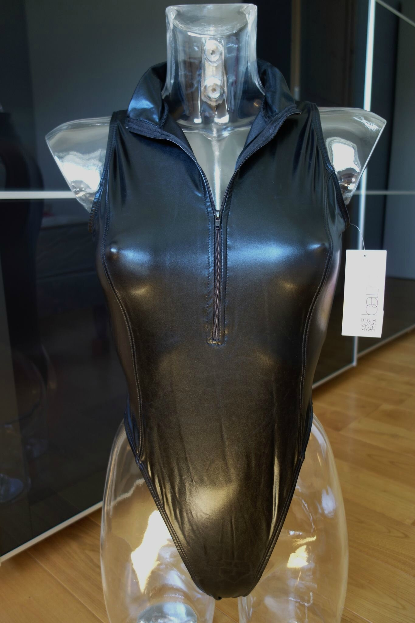 Les Bodys à effet cuir liquide