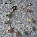 Bracelet pelotes de <b>laine</b>
