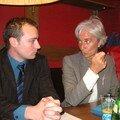 Café débat avec me la ministre christine largarde