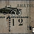 Carte Anniv Anatole 12 ans