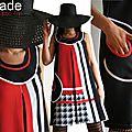 Robe Graphique Trapèze Bicolore Noir/blanc et Rouge à <b>Pied</b> de <b>Poule</b> Géant Tendance Printemps 2014 ... chez ISAmade !