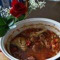 Poulet au pois chiche et chorizo à l'espagnole -hiszpański kurczak z chorizo