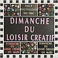 Dimanche du <b>loisir</b> <b>créatif</b> à Boussac