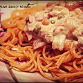 Pâtes quinoa/tomate sauce ricotta