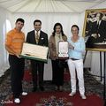 Crown Prince Moulay Rachid with Padraig Harrington and Gwladys Nocera