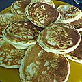 Pancake a la noix de coco et pepites de chocolat