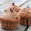 Muffins à la banane fourrés au <b>banania</b>.