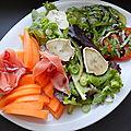 Salade sucrée-salée, colorée et pleine de saveurs