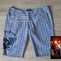 Abbey Dawn Plaid Skull & Crossbones Bermuda Shorts