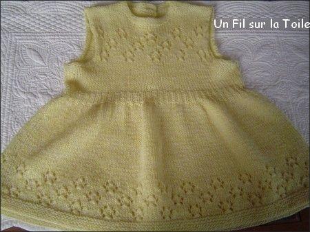 1960 (années) Robe tricotée par ma grand mère