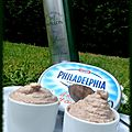 Tuna rillettes philadelphia cheese and papillon olive oil