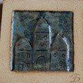 Carreau de grès : motif palais oriental