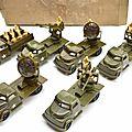 Boite de 6 camions militaires marque kleeware