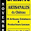 Marché artisanal - chateau de barjac (30430) - 10/11/ 2013