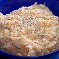 Purée de carottes relevée au roquefort