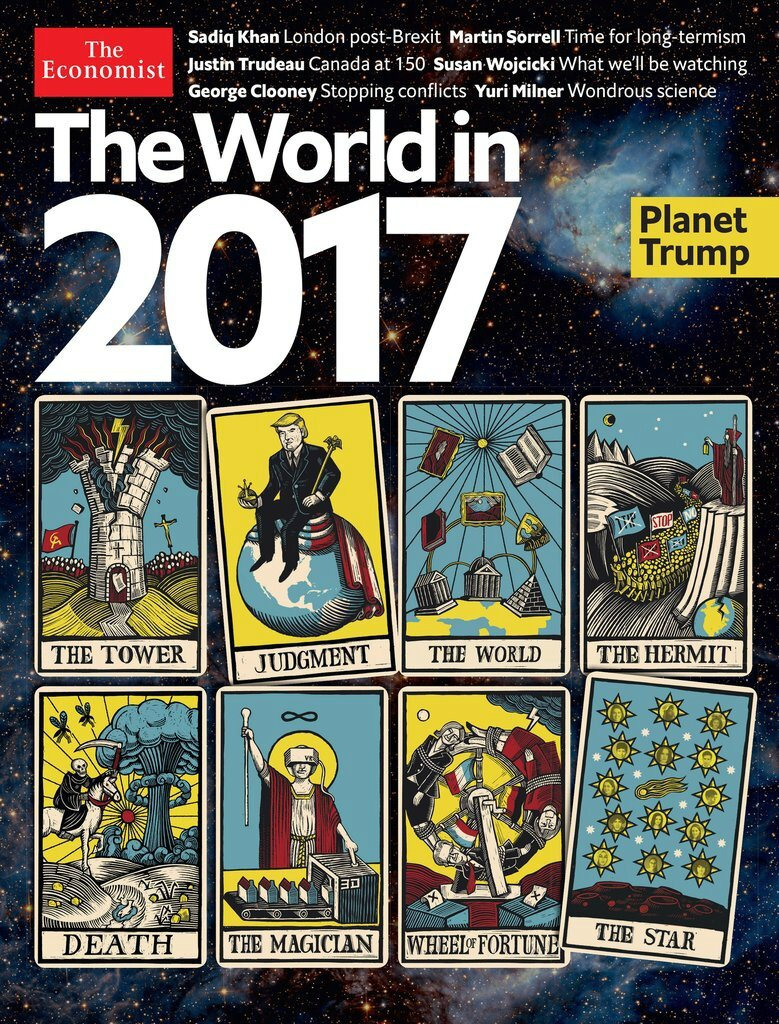The Economist's World in 2017 shows the end of this world