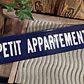 Ancienne <b>Plaque</b> Emaillée PETIT APPARTEMENT / Enamel Sign