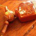 Collier cabochon et caramel, vue 2