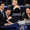 Justin Trudeau et l'<b>union</b> entre l'Europe et le Canada
