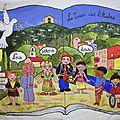 Etapes de la réalisation de la grande fresque de la paix pour la bibliothèque d'auriol (13)