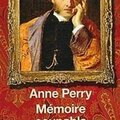 Mémoire coupable, Anne Perry