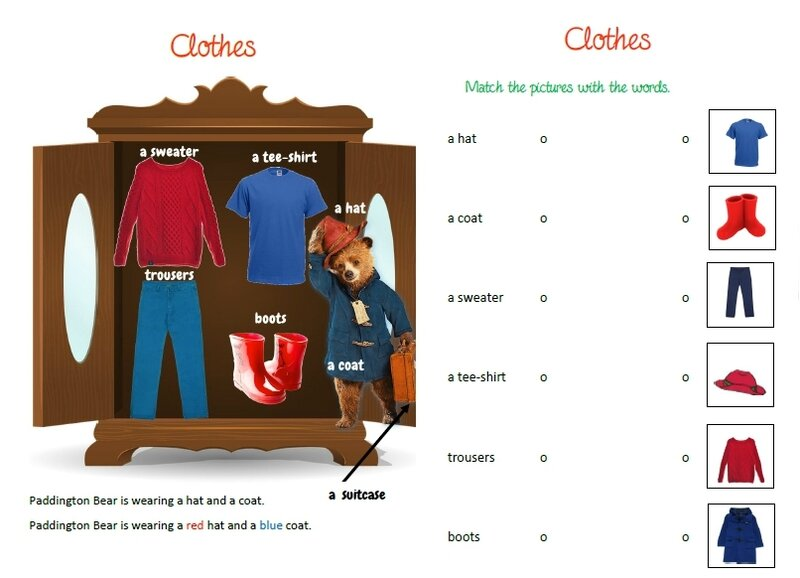 paddington's clothes