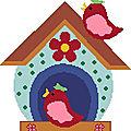 Point de croix : des nichoirs (1)