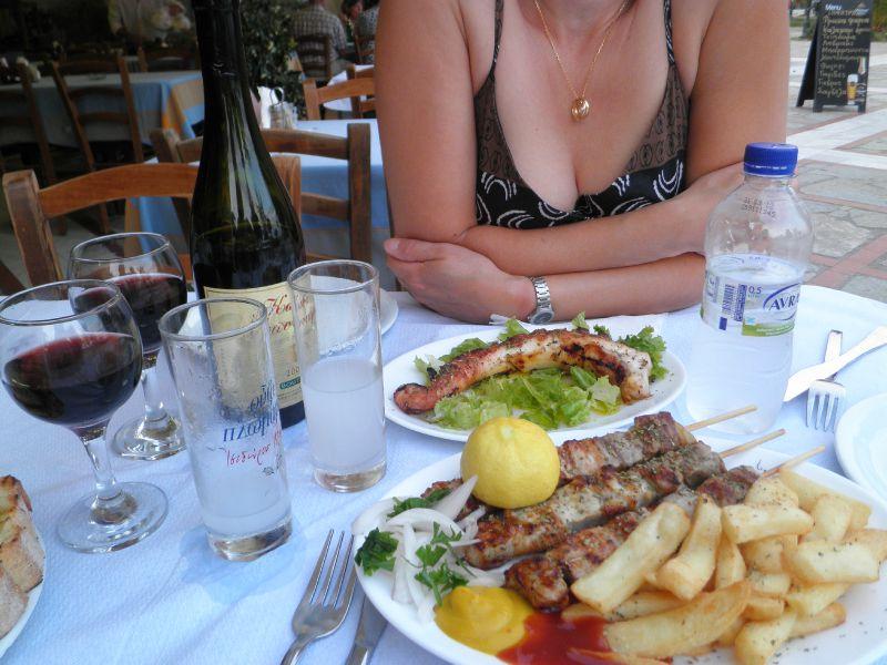 GR diner souvlaki - squid