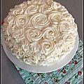 Vacherin glace framboise & mousse de citron - torta helada frambuesa & mousse de limon